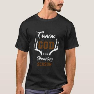 Thank God for Hunting Season Graphic T-shirt