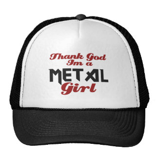 Thank god I m a Metal girl Mesh Hat