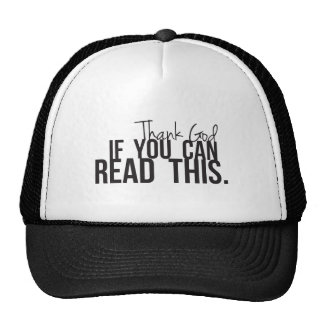 Thank God if You Can Read This Mesh Hat