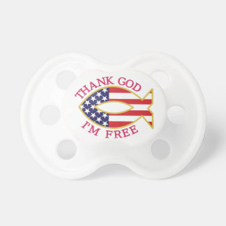 Thank God Im Free Baby Pacifier