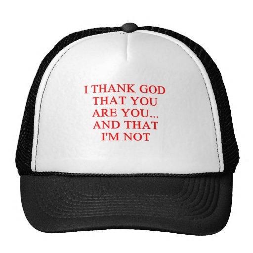 thank god insult trucker hats