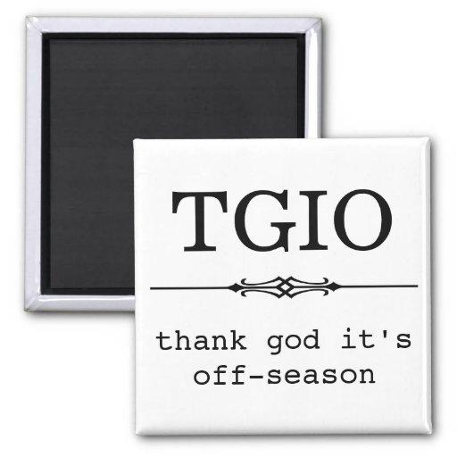 Thank God It's off-season Magnets