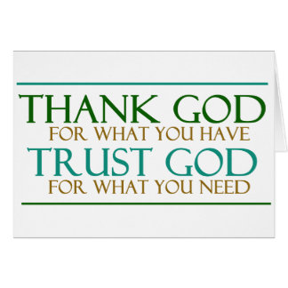 Thank God Trust God Card