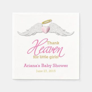 Thank Heaven for Little Girls Baby Shower Napkins Disposable Serviette