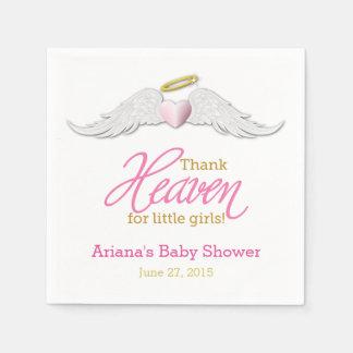 Thank Heaven for Little Girls Baby Shower Napkins Paper Napkin