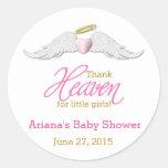 Thank Heaven for Little Girls Baby Shower Round Sticker
