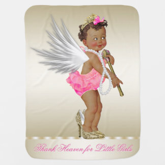 Thank Heaven for Little Girls Ethnic Angel Girl Pramblanket