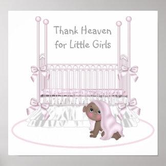Thank Heaven For Little Girls Ethnic Nursery Art Poster