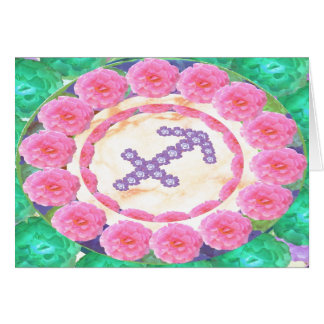 Thank OOO Zodiac Sagittarius  Template 20 Greeting Card