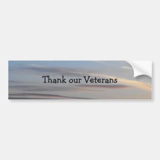 Thank our Veterans - 2 Bumper Sticker