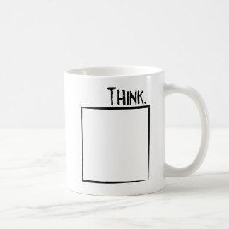 Thank Outside The Box Literal Typography Coffee Mug