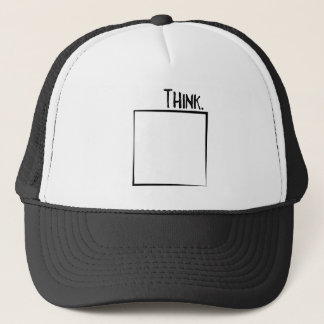 Thank Outside The Box Literal Typography Trucker Hat