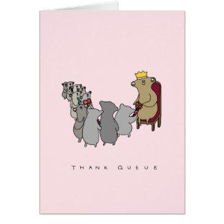 Thank Queue | Cute Sloth Thank You Card