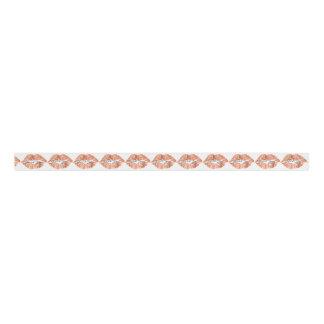 Thank Rose Copper Lips Kiss Makeup Beauty Glitter Grosgrain Ribbon