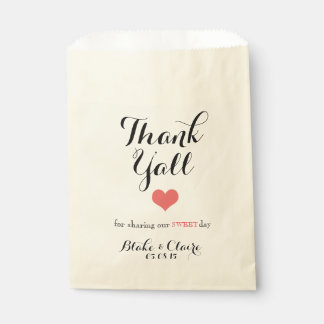 Thank Y'all for Sharing our Sweet Day Favour Bags