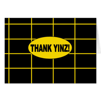 THANK YINZ note inner blank Card