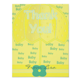 Thank You 11 Cm X 14 Cm Invitation Card