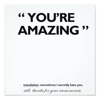 Thank you! 13 cm x 13 cm square invitation card