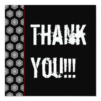 Thank You 21st Surprise Party Black Red W1451 13 Cm X 13 Cm Square Invitation Card