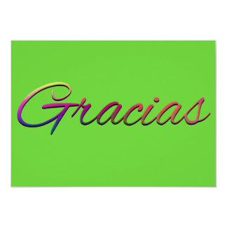 thank-you-394201  GRACIAS SPANISH LANGUAGE THANKFU 13 Cm X 18 Cm Invitation Card