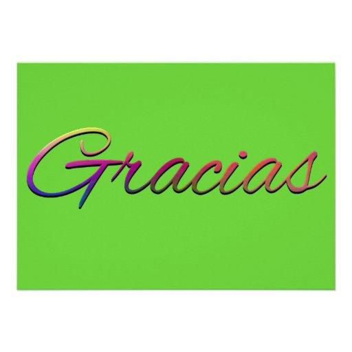 thank-you-394201  GRACIAS SPANISH LANGUAGE THANKFU Personalized Invites