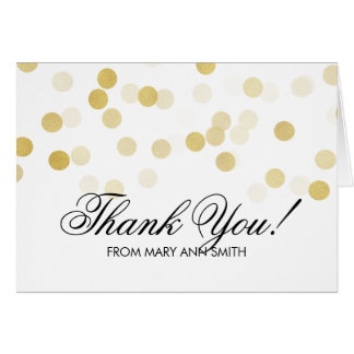 """""""Thank you"""" 40th Birthday Gold Foil Glitter Lights Greeting Card"""