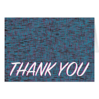 """""""thank you!"""" 5.6x4 Teal Retro Note Card"""