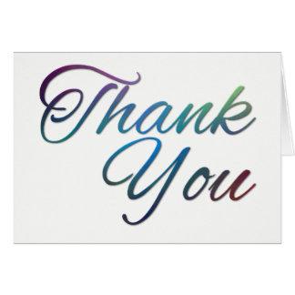 "Thank You (5"" x 7""), Standard white envelopes Card"