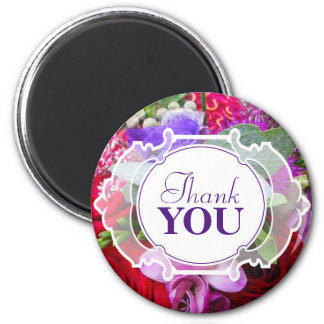 Thank You 6 Cm Round Magnet