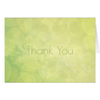 Thank You. Abstract bokeh green lime texture. Card