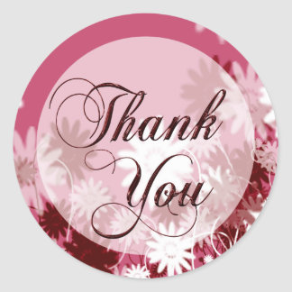 Thank You Acknowledgement Envelope Seal Round Sticker