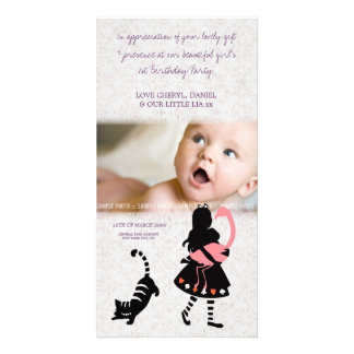 Thank You Alice in Wonderland Baby Photo Card