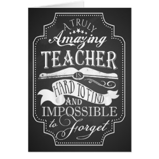 Thank you amazing teacher card appreciation week
