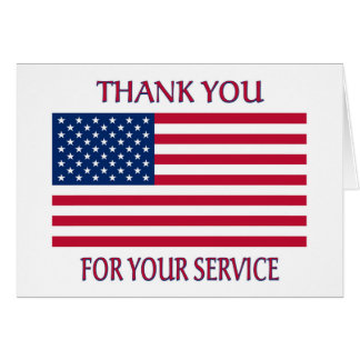Thank You American Flag Card
