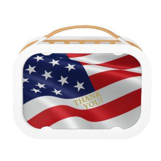 THANK YOU American Flag Yubo Lunch Box