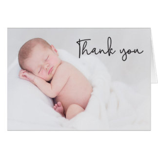 Thank You and Baby Birth Announcement, Modern Card