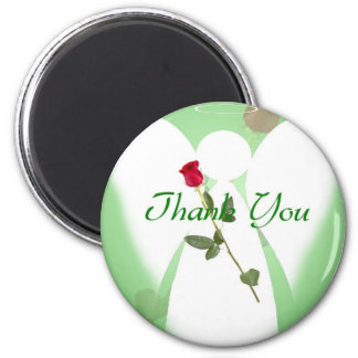 Thank you Angel 6 Cm Round Magnet