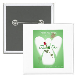 Thank you Angel 15 Cm Square Badge