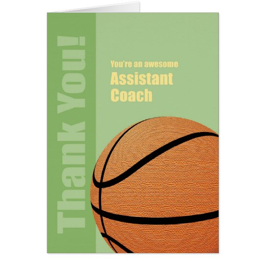 Thank You Assistant Basketball Coach Greeting card