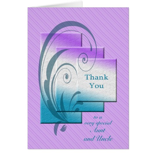 Thank you aunt and uncle, with elegant rectangles card
