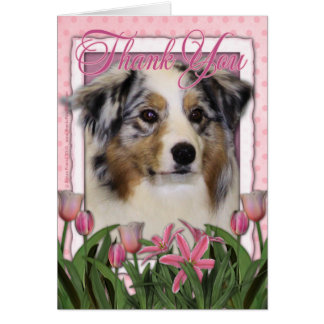 Thank You - Australian Shepherd Card