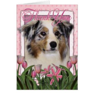 Thank You - Australian Shepherd Greeting Card