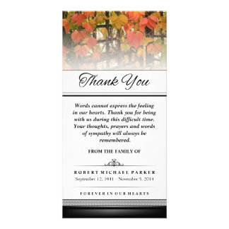 Thank You Autumn Leaves Words Cannot Express Card