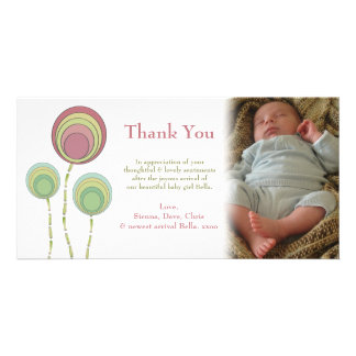 Thank You Baby Boy or Girl Photo Card Template