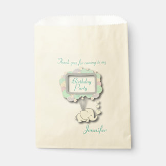 Thank You Baby Elephant Favour Bags