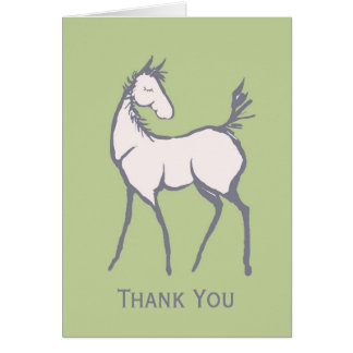 Thank You Baby Foal Card
