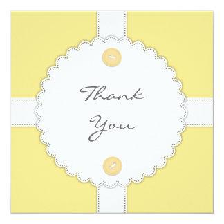 Thank You Baby Shower Dantel Flat Card