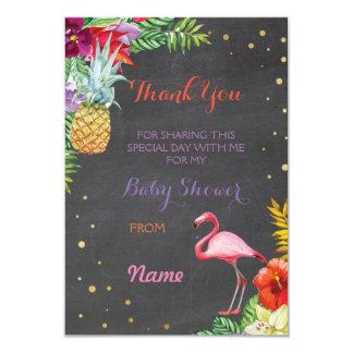 Thank You Baby Shower Flamingo Aloha Luau Cards