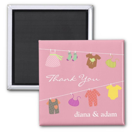 Thank You Baby Shower Magnet