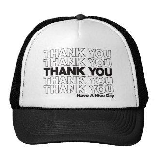 Thank You Bag Design - Black Cap